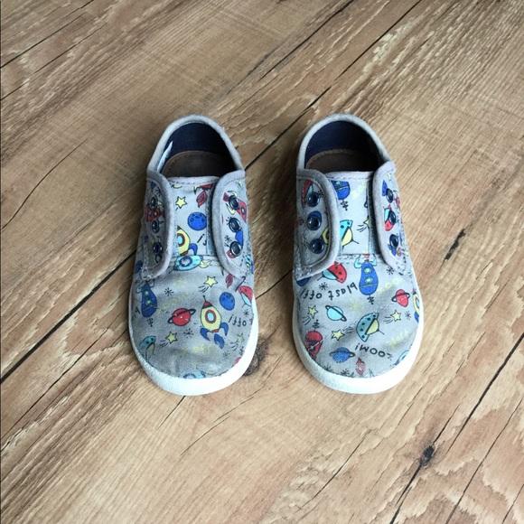c4de92d7d0510 Toms toddler rocket ship outer space slip on shoes